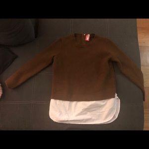 J. Crew wool sweater blouse